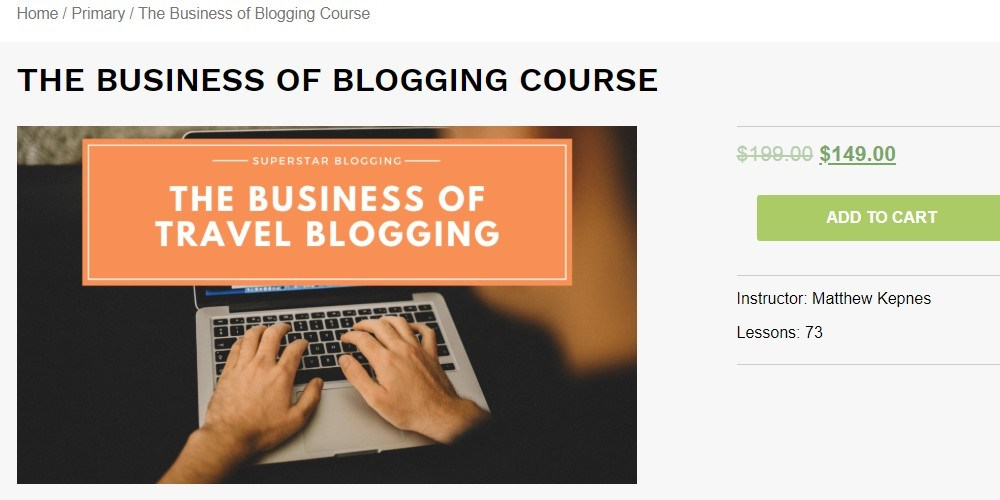 superstar blogging product page