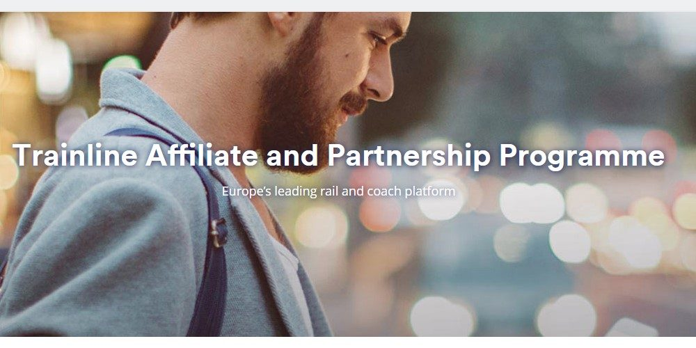 trainline affiliate sign up page.