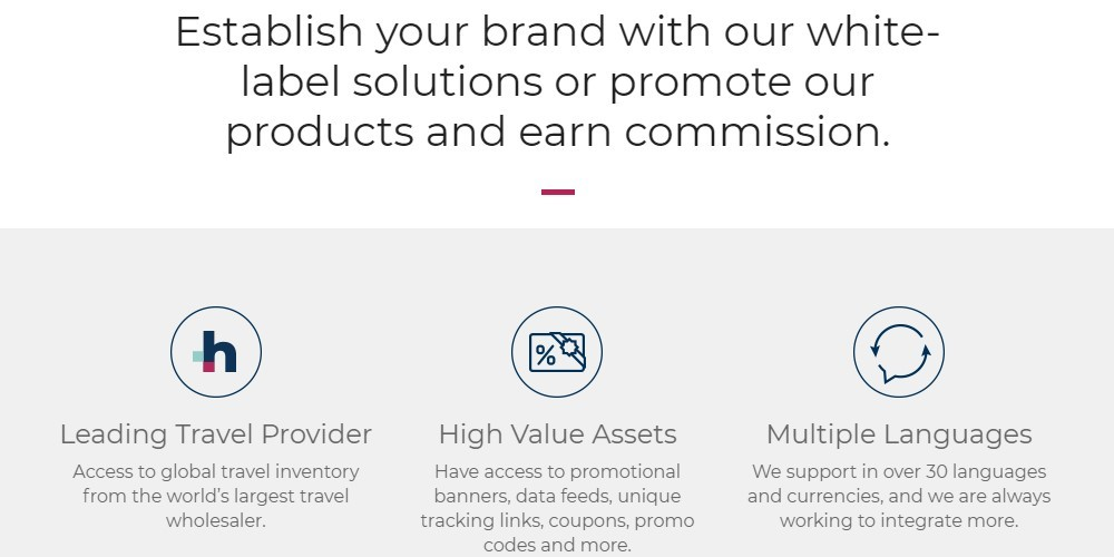travel stack affiliate sign up page