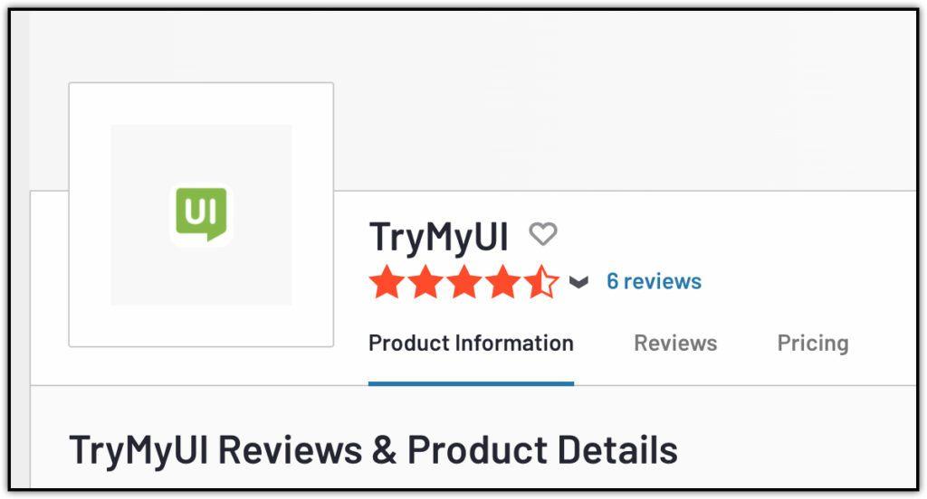 trymyui 6 user reviews