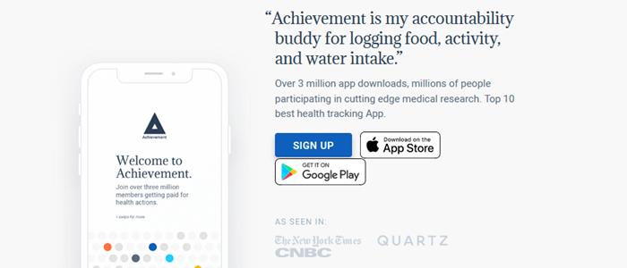 Achievement App Website Screenshot