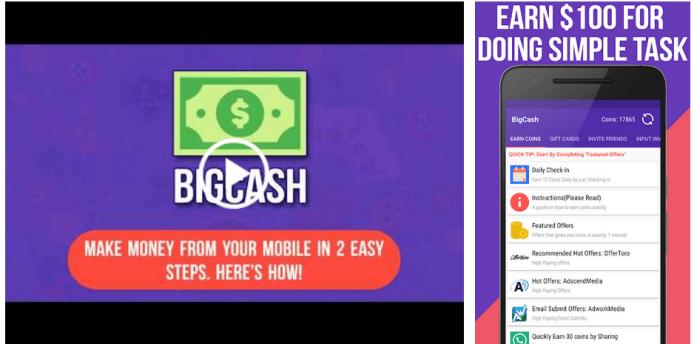 Big Cash Website Screenshots
