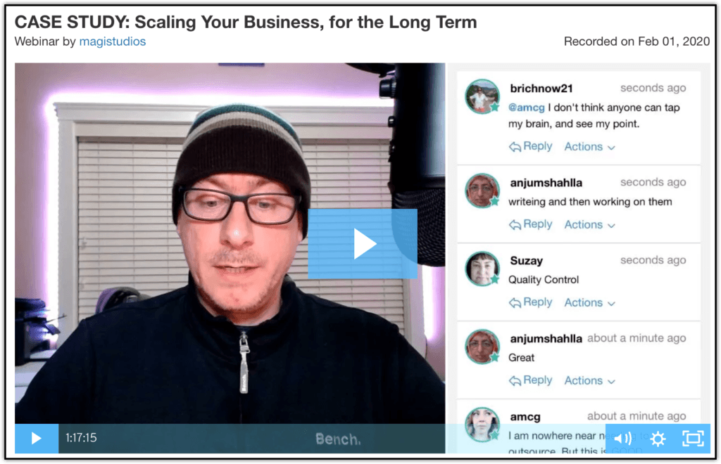 CASE STUDY- Scaling Your Business, for the Long Term Webinar