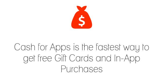 Cash for Apps Website Screenshot