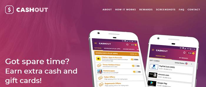 CashOut Website Screenshot