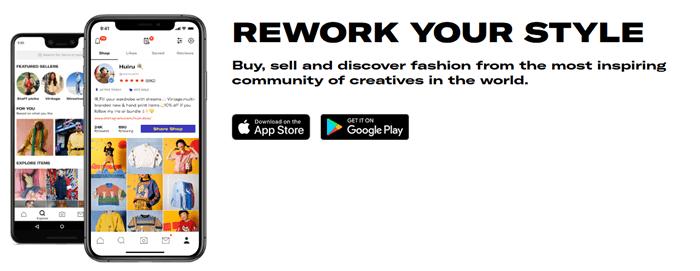 Depop Website Screenshot