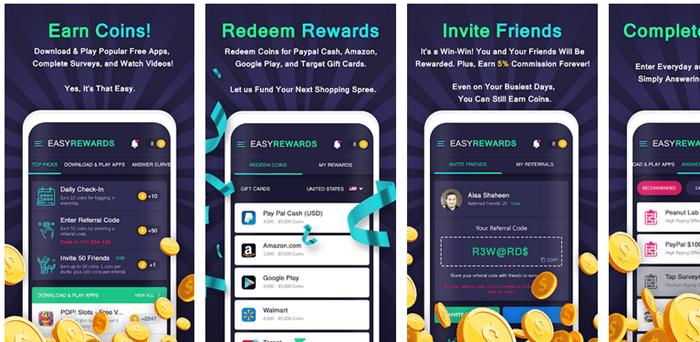 Easy Rewards Website Screenshot