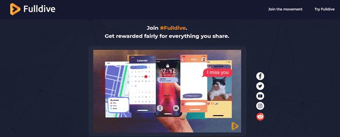 FullDive Browser Website Screenshot