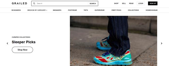 Grailed Website Screenshot