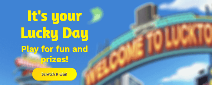 Lucky Day Website Screenshot
