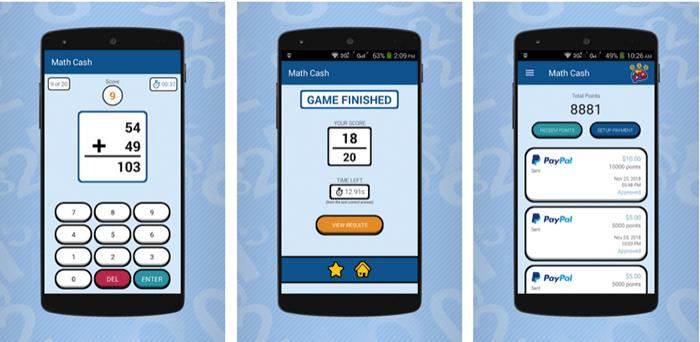 Math Cash Website Screenshot