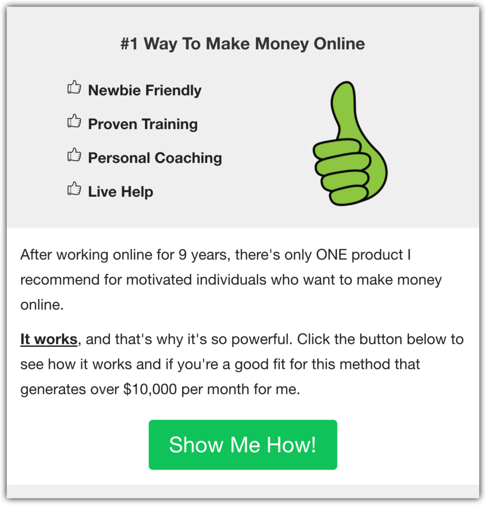 Number One Method of Earning Money Online