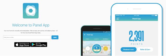 Panel App Website Screenshot