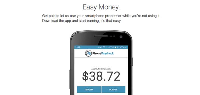 PhonePaycheck Website Screenshot