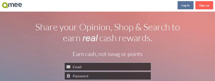 Qmee Website Screenshot