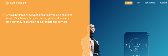 Sweatcoin Website Screenshot