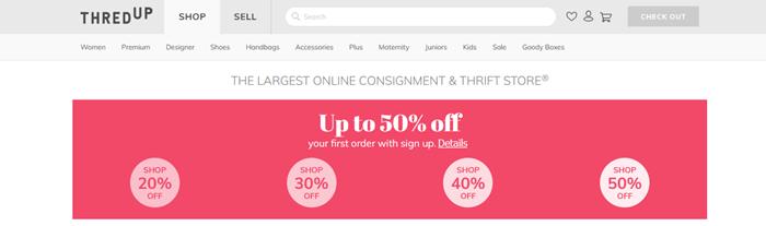 ThredUP Website Screenshot