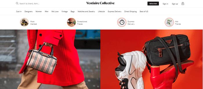 Vestiaire Collective Website Screenshot
