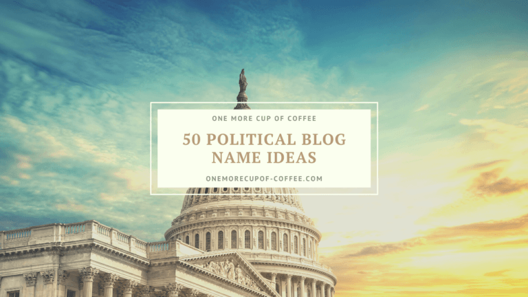political blog name ideas featured image