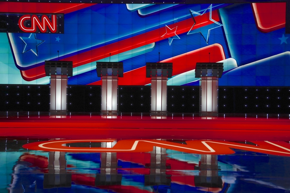 political debate stage hosted by CNN