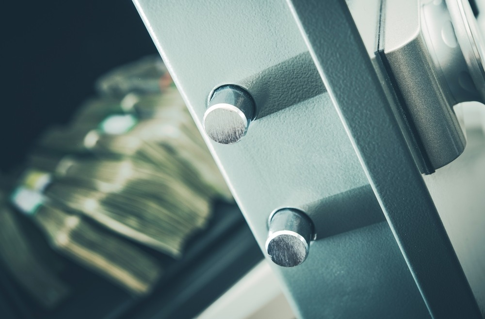 private investment concept cash in home safe