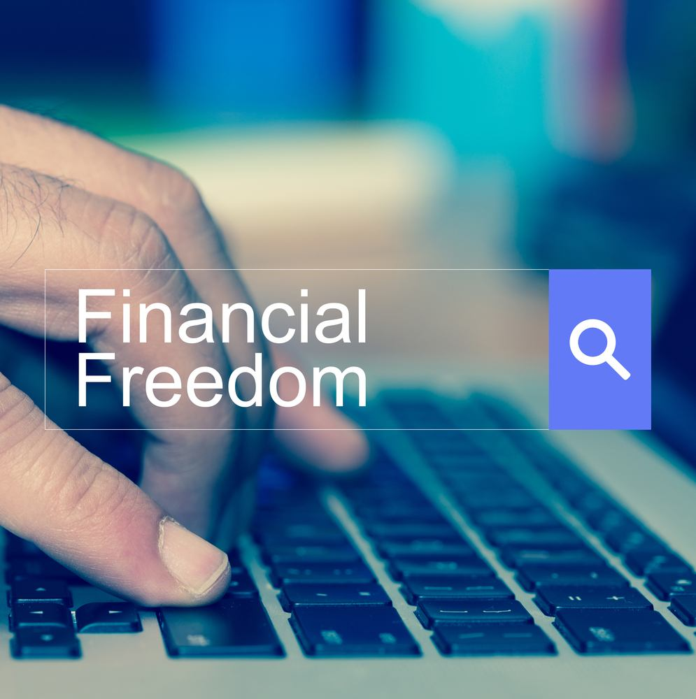 search enging financial freedom concept