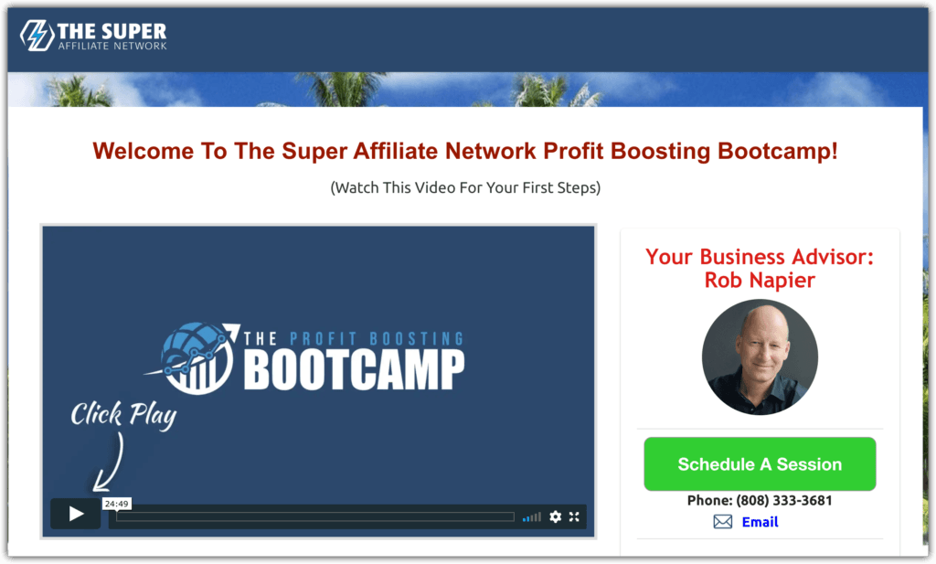 super affiliate network not the product I purchased