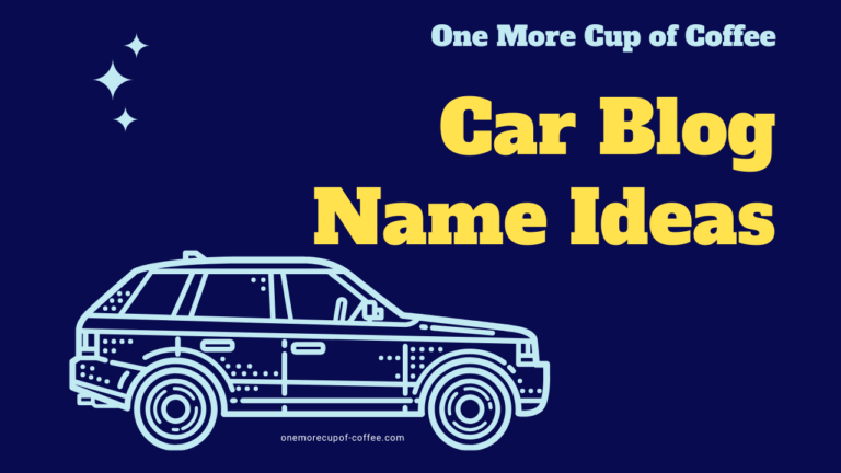 car blog name ideas featured image