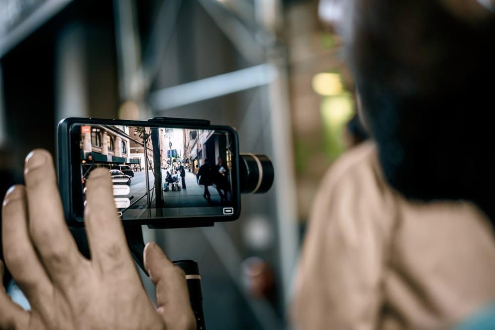 advanced photo editing on digital camera in cityscape