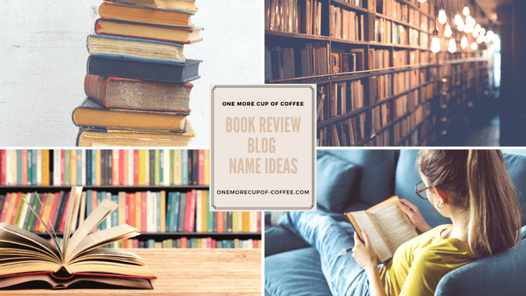 book review blog name ideas featured image