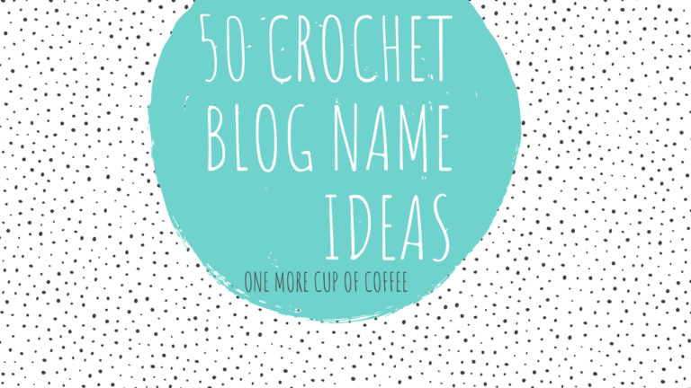 crochet blog name ideas featured image