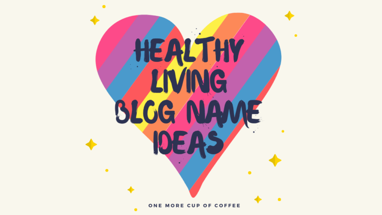 healthy living blog name ideas featured image