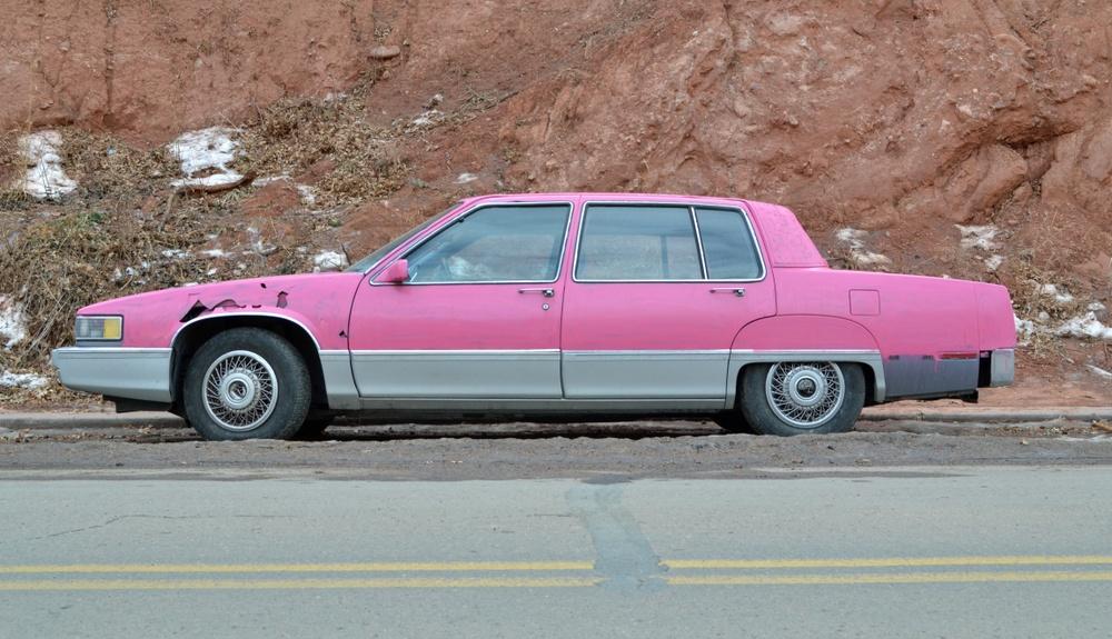 old pink mary kay cadillac