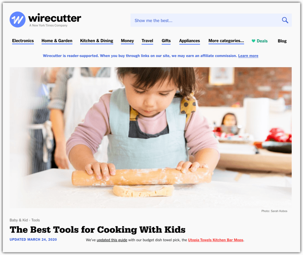 wire cutter affiliate example