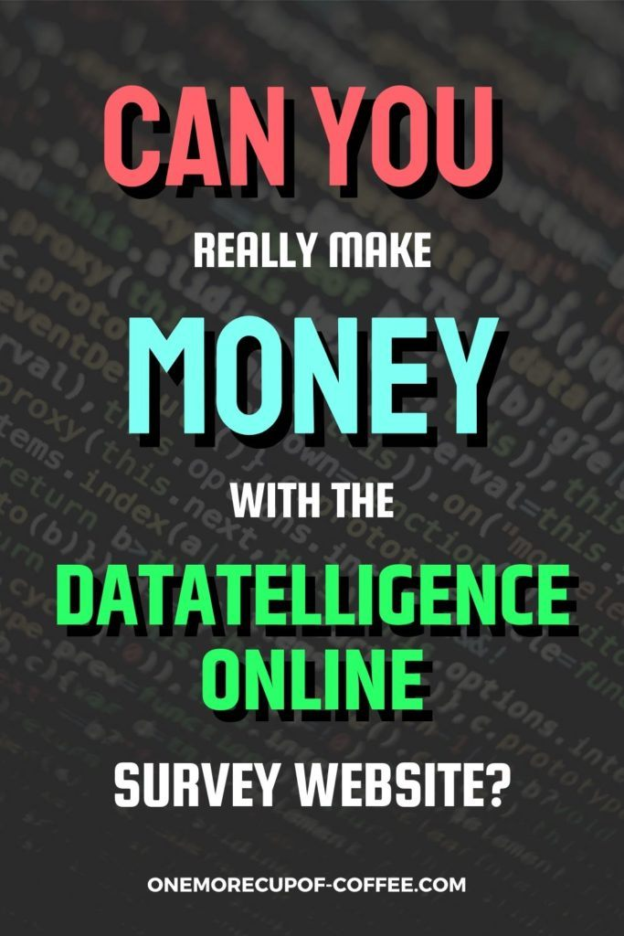 Can You Really Make Money With The Datatelligence Online Survey Website?