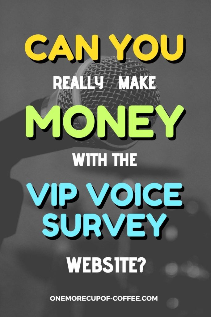 Can You Really Make Money With The VIP Voice Survey Website?