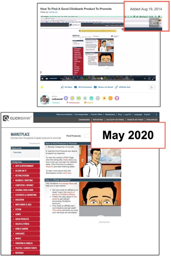 clickbank marketplace 2020 vs 2014