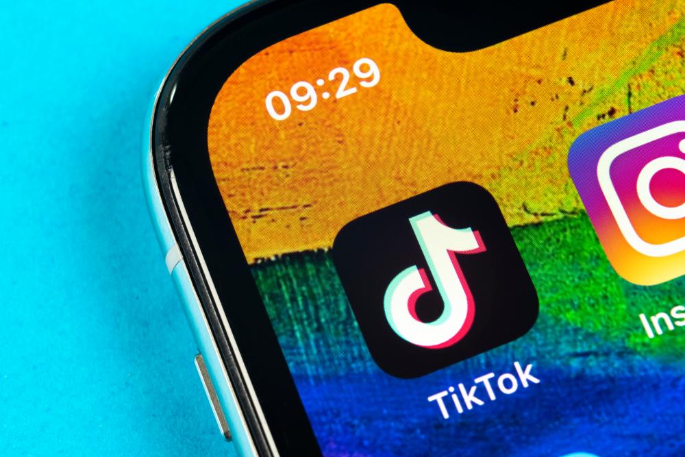 close photo of tiktok app