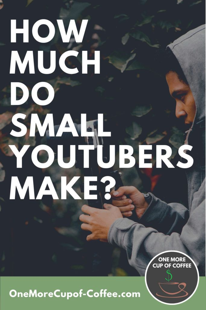 """young man holding camera filming video with bold text title """"how much money do small youtubers make?"""""""