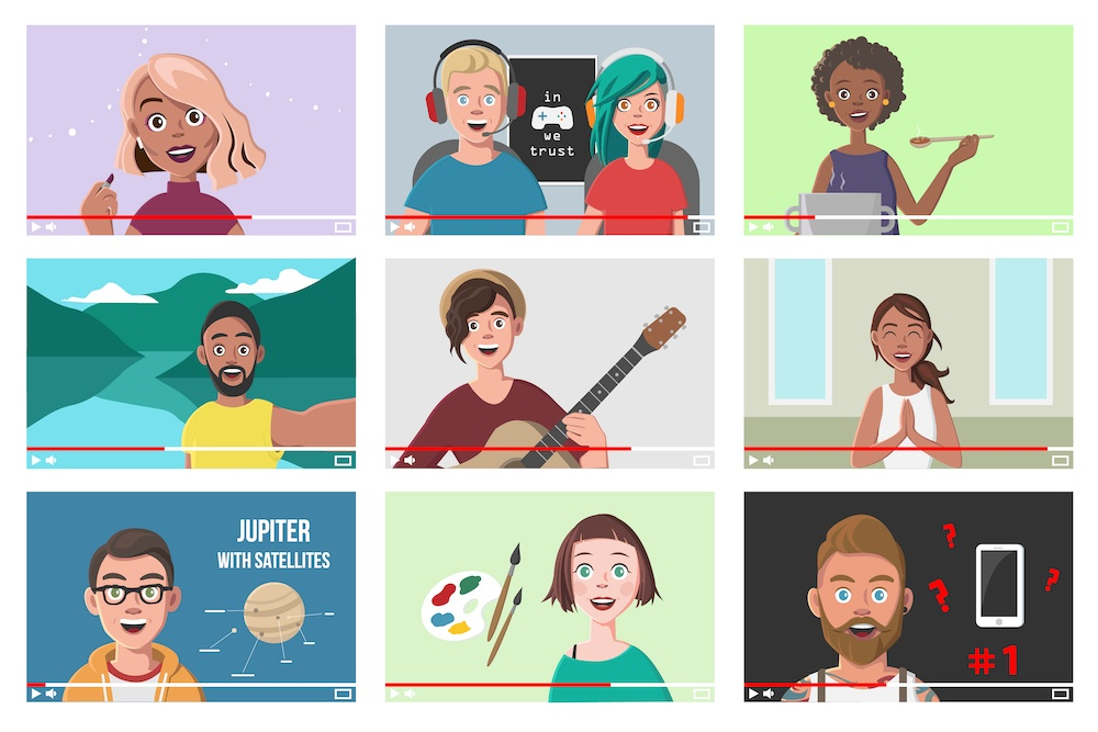 vector graphic of YouTube tutorials concept