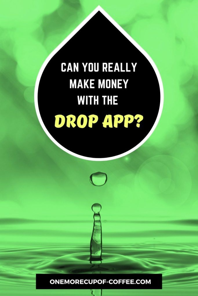 background image in green tint of water droplet bouncing on water, and text overlay at the top