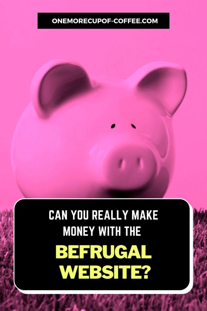 """piggy bank in pink background with text overlay """"Can You Really Make Money With The BeFrugal Website"""""""