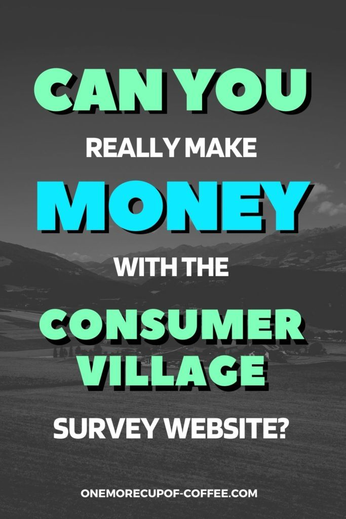 Can You Really Make Money With The Consumer Village Survey Website?