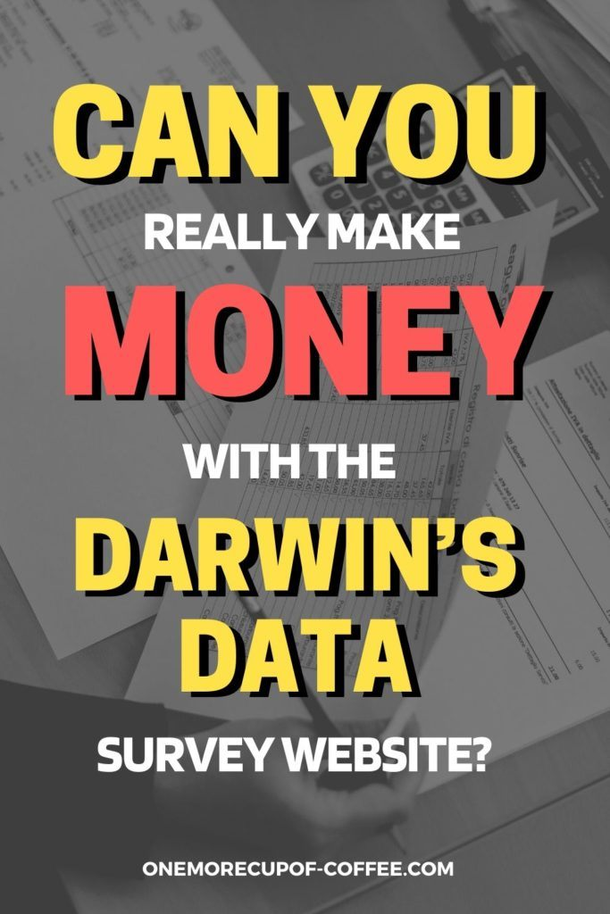 Can You Really Make Money With The Darwin's Data Survey Website?