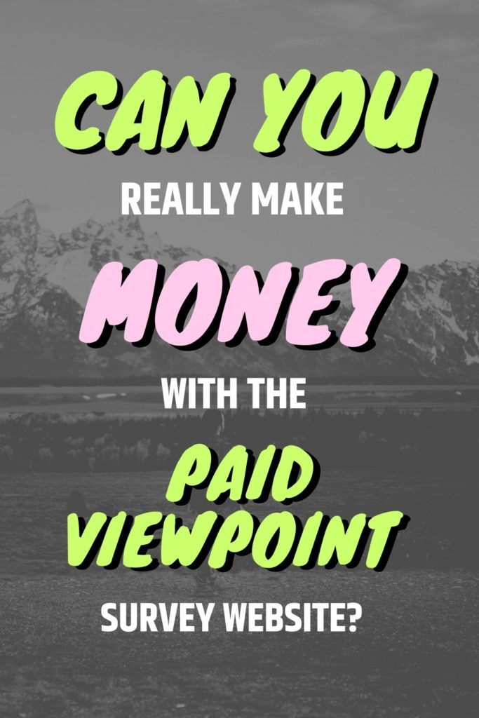 Can You Really Make Money With The Paid Viewpoint Survey Website?