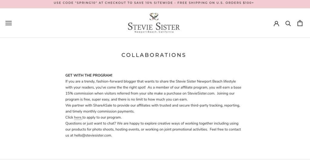 stevie sister collaborations screenshot