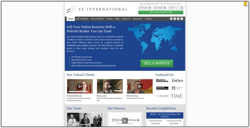 fe international website broker