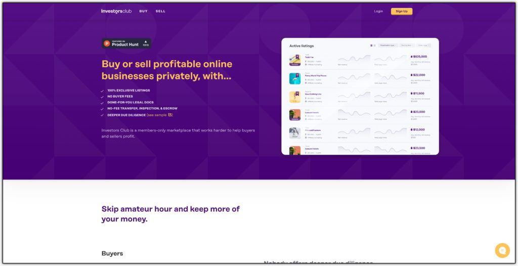investors club website broker