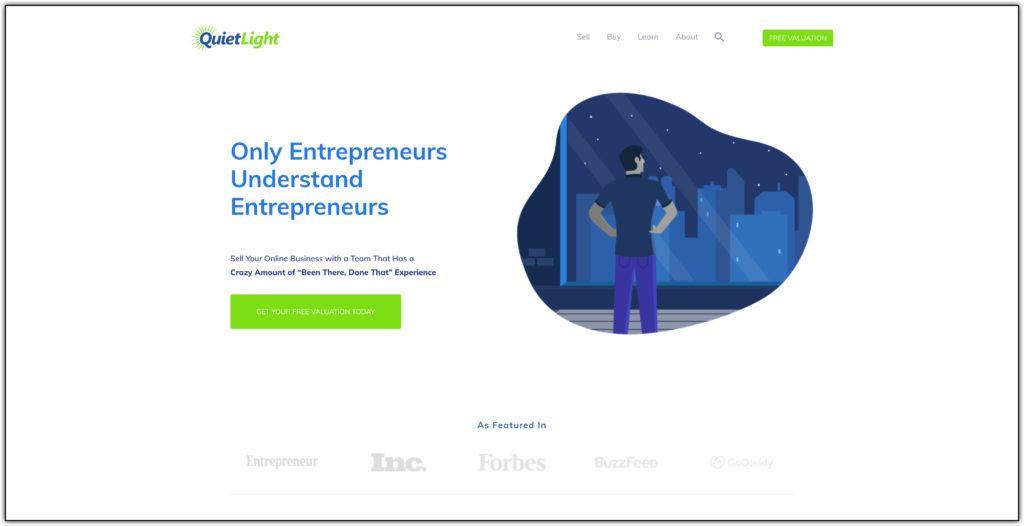 quite light website broker