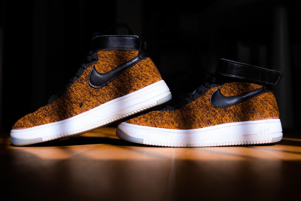 rare orange nike sneaker